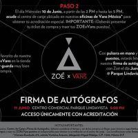 #ZOExVans: Firma de Autografos en Parque Lindavista