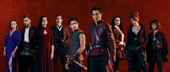 Sarah Bolger as Jade, Marton Csokas as Quinn, Orla Brady as Lydia, Oliver Stark as Ryder, Aramis Knight as M.K., Daniel Wu as Sunny, Madeleine Mantock as Veil, Emily Beecham as The Widow and Ally Loannides as Tilda - Into the Badlands _ Season 1, Gallery - Photo Credit: James Minchin III/AMC