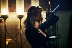Emily Beecham as The Widow - Into the Badlands _ Season 1, Episode 2 - Photo Credit: James Dimmock/AMC