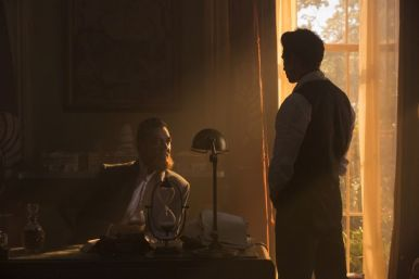 Marton Csokas as Quinn and Daniel Wu as Sunny - Into the Badlands _ Season 1, Episode 6 - Photo Credit: Hilary Bronwyn Gayle/AMC