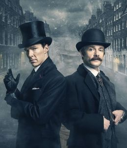 ** STRICTLY EMBARGOED UNTIL 24TH OCTOBER AT 15:00 HRS, BST (British Summer Time)** BBC UK Iconic Picture Shows: Sherlock Holmes (BENEDICT CUMBERBATCH) and John Watson (MARTIN FREEMAN)