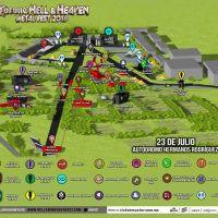 Corona Hell & Heaven 2016: Mapa y Horarios