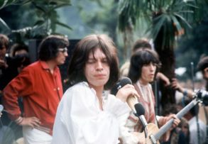 Stones In The Park: September 1969 Half a million people - one in a hundred of Britain's population - gathered in the open air in London's Hyde Park to stare, swoon, cheer, idolise and pay homage to the pop group who are described as the greatest rock 'n roll band in the world: the Rolling Stones. Copyright Granada Tv