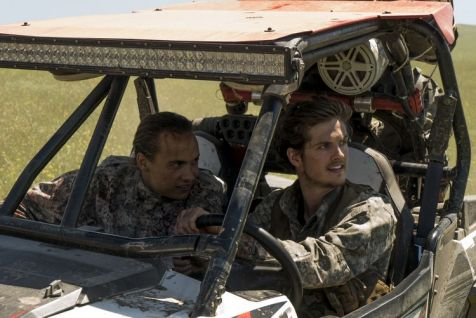 Frank Dillane as Nick Clark, Daniel Sharman as Troy Otto - Fear the Walking Dead _ Season 3, Episode 9 - Photo Credit: Richard Foreman, Jr/AMC