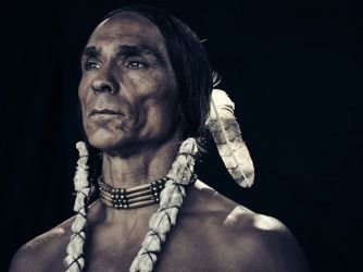 Zahn McClarnon as Toshaway - The Son _ Season 1, Gallery - Photo Credit: James Minchin/AMC