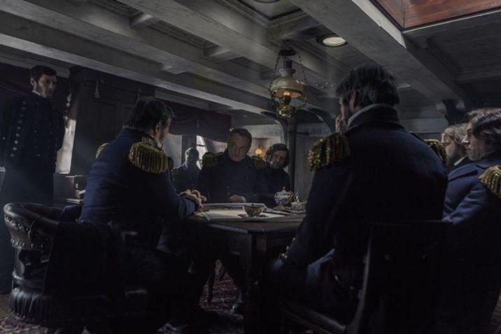 Jared Harris as Francis Crozier, Tobias Menzies as James Fitzjames; group- The Terror _ Season 1, Episode 1 - Photo Credit: Aidan Monaghan/AMC