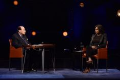 "INSIDE THE ACTORS STUDIO -- ""Viola Davis"" -- Pictured: (l-r) James Lipton, Viola Davis -- (Photo by: Anthony Behar/Bravo)"
