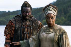 Babou Ceesay as Pilgrim, Lorraine Toussaint as Cressida - Into the Badlands _ Season 3, Episode 2 - Photo Credit: Aidan Monaghan/AMC