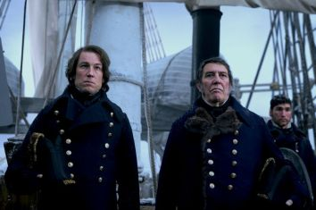 Ciarán Hinds as John Franklin, Tobias Menzies as James Fitzjames - The Terror _ Season 1, Episode 1 - Photo Credit: Screengrab/AMC