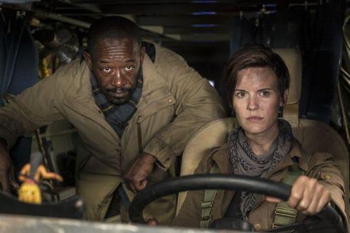 Maggie Grace as Althea, Lennie James as Morgan Jones - Fear the Walking Dead _ Season 4, Episode 1 - Photo Credit: Richard Foreman, Jr/AMC