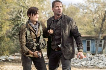 Maggie Grace as Althea, Garret Dillahunt as John Dorey - Fear the Walking Dead _ Season 4, Episode 1 - Photo Credit: Richard Foreman, Jr/AMC