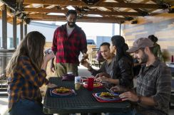Alycia Debnam-Carey as Alicia Clark, Colman Domingo as Victor Strand, Frank Dillane as Nick Clark, Danay Garcia as Luciana, Sebastian Sozzi as Cole - Fear the Walking Dead _ Season 4, Episode 2 - Photo Credit: Richard Foreman, Jr/AMC
