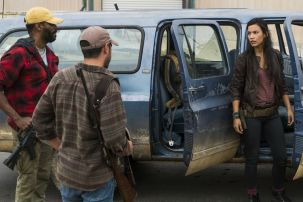 Colman Domingo as Victor Strand, Sebastian Sozzi as Cole, Danay Garcia as Luciana- Fear the Walking Dead _ Season 4, Episode 2 - Photo Credit: Richard Foreman, Jr/AMC