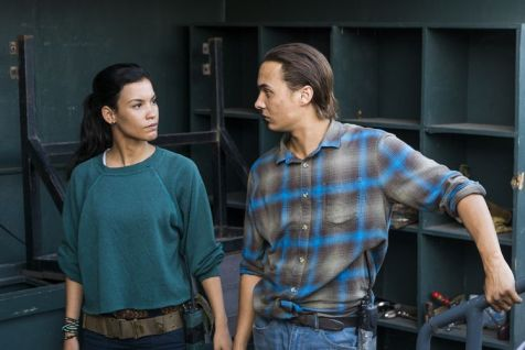 Danay Garcia as Luciana, Frank Dillane as Nick Clark - Fear the Walking Dead _ Season 4, Episode 2 - Photo Credit: Richard Foreman, Jr/AMC