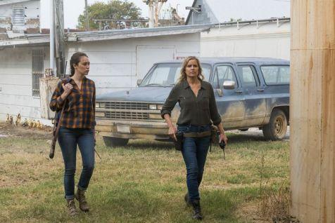 Alycia Debnam-Carey as Alicia Clark, Kim Dickens as Madison Clark - Fear the Walking Dead _ Season 4, Episode 2 - Photo Credit: Richard Foreman, Jr/AMC