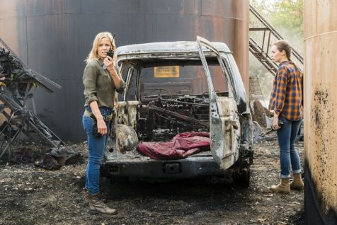 Kim Dickens as Madison Clark, Alycia Debnam-Carey as Alicia Clark - Fear the Walking Dead _ Season 4, Episode 2 - Photo Credit: Richard Foreman, Jr/AMC