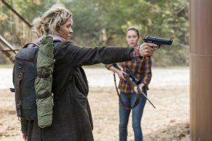 Jenna Elfman as Naomi, Alycia Debnam-Carey as Alicia Clark - Fear the Walking Dead _ Season 4, Episode 2 - Photo Credit: Richard Foreman, Jr/AMC