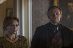 Jared Harris as Francis Crozier, Sian Brooke as Sophia Craycroft; group- The Terror _ Season 1, Episode 4 - Photo Credit: Aidan Monaghan/AMC