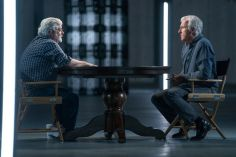 George Lucas, James Cameron; group - Story of Science Fiction _ Season 1 - Photo Credit: Michael Moriatis/AMC