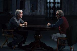 Steven Spielberg, James Cameron; group - Story of Science Fiction _ Season 1 - Photo Credit: Michael Moriatis/AMC