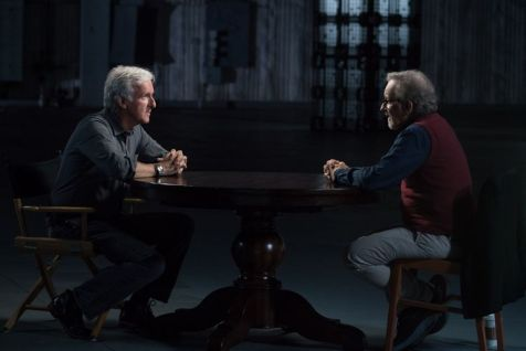 Steven Spielberg, James Cameron; group - Story of Science Fiction _ Season 1 - Photo Credit: Michael Moriatis/AMC