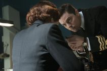 Picture shows: Second Officer Monday (ANNA CHANCELLOR) and Ian Fleming (DOMINIC COOPER)