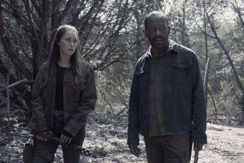 Alycia Debnam-Carey as Alicia Clark, Lennie James as Morgan Jones- Fear the Walking Dead _ Season 4, Episode 9 - Photo Credit: Ryan Green/AMC