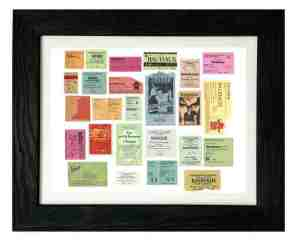 Bauhaus Ticket Stubs - photo by Kevin Haskins