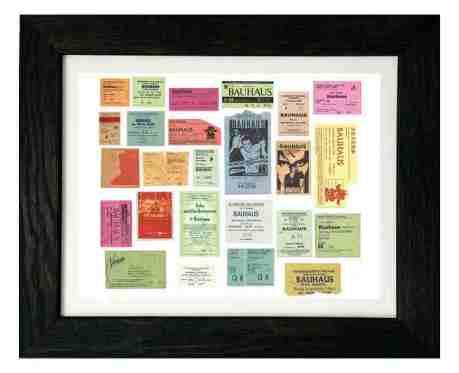 Bauhaus Ticket Stubs - photo by Kevin Haskins