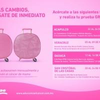 Caravana Rosa ADO y FUCAM 2018: Acciones más allá del #DiaMundialdelCancerdeMama