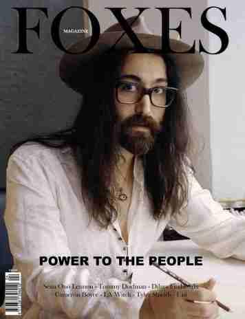 FOXES_MAGAZINE_SEAN_LENNON_COVER