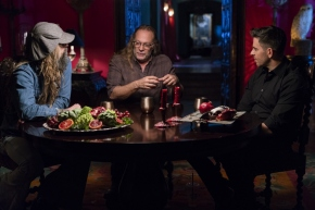 Rob Zombie, Greg Nicotero, Eli Roth - Eli Roth's History of Horror _ Season 1 - Photo Credit: Michael Moriatis/AMC